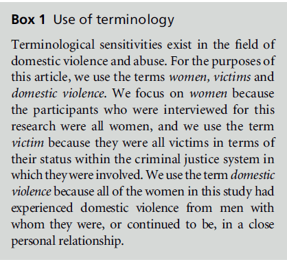 A Review of Research on Women's Use of Violence With Male Intimate Partners